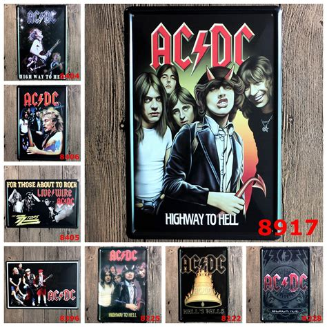 Poster Band 2 20x30cm Acdc Band Advertising Plaque Metal Plate Poster 20x30cm