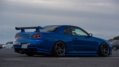 nissan blue car nissan skyline gtr r34 blue wallpaper wallpaper sportstle