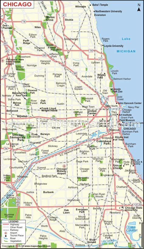 us map with cities chicago buy chicago city map