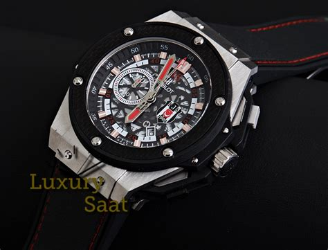 Tag Heuer Monaco V4 Leather Silver Black Hublot Ap Expedition hublot saat replika hublot omega tag heuer armani
