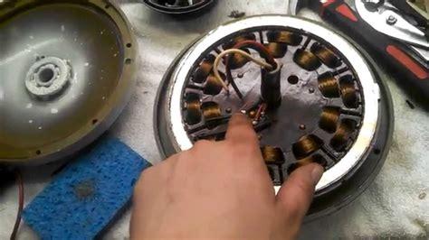 ceiling fan bearings cracking open the motor of a golden fan electric