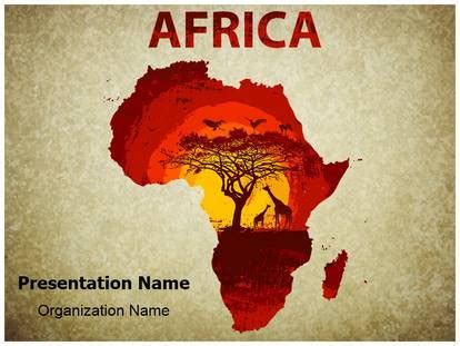 africa tourism powerpoint template background
