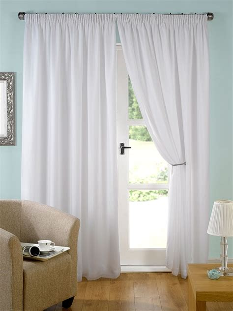 lined white curtains evie lined white voile curtain