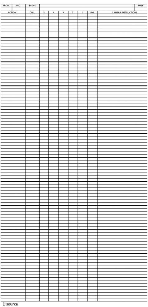 x template d source a basic x sheet template exposure sheet d