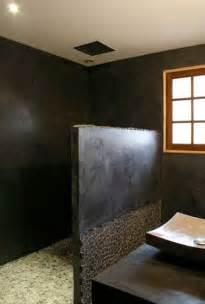ordinary Beton Cire Mur Salle De Bain #1: salle-de-bain-moderne-en-beton-cire-sur-carrelage.jpg