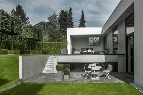 nordic house designs l shaped nordic house featuring four split levels and integrated garage