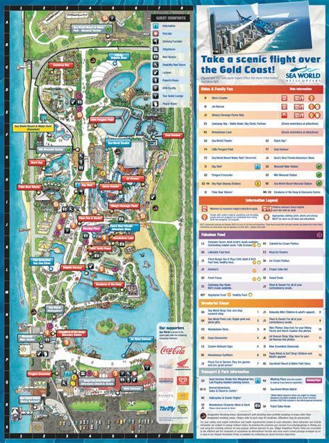 sea world map maps of gold coast theme parks dreamworld sea world movieworld