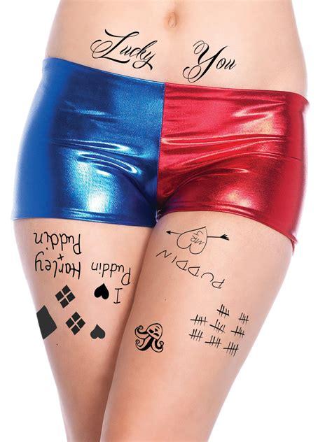 harley quinn temporary tattoos face waist amp leg tats