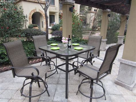 bar height patio dining sets to enjoy outdoor metal table