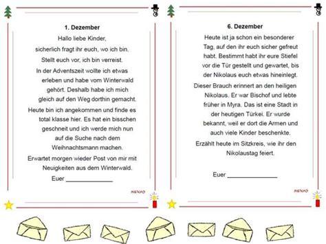 Briefe Schreiben Muster Grundschule Unterrichtsmaterial 220 Bungsbl 228 Tter F 252 R Die Grundschule Adventskalender Briefe Aus Dem