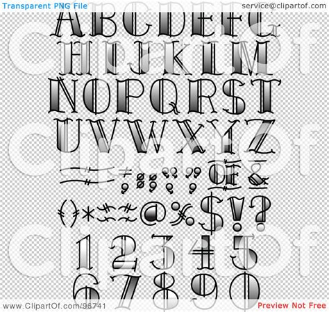 tattoo designs letters numbers royalty free rf clipart illustration of a digital