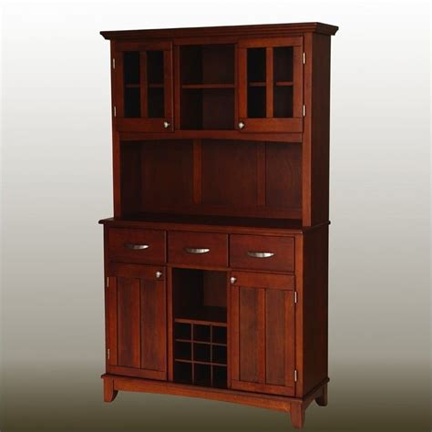 home styles furniture furniture cherry buffet with 2 door hutch 5100 0072 72