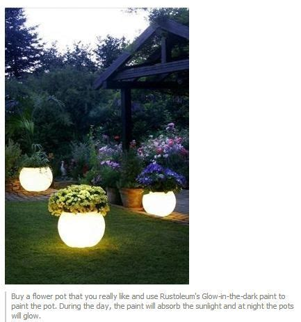 glow in the paint yard ideas glow in the paint for outdoor pots crafty ideas