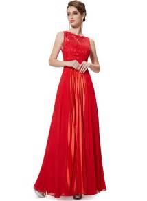elegant sleeveless lace panel evening party wedding dress