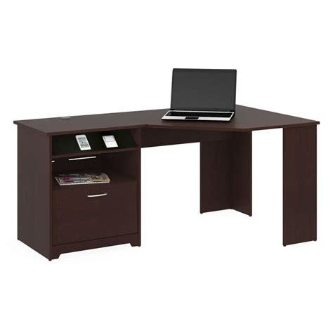 bush furniture cabot corner desk bush cabot corner computer desk in harvest cherry wc31415 03