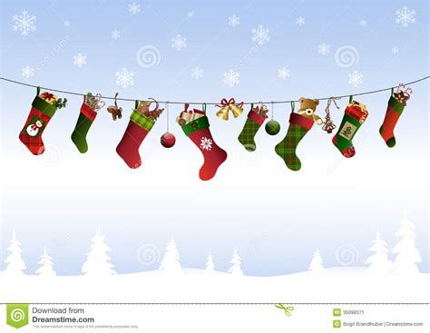 twenty five days of christmas minu stocking on a rope from crackabsral stock image image 35098371
