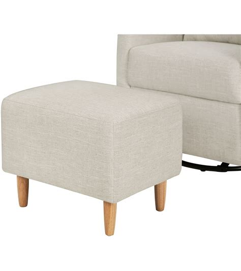 Swivel Glider With Ottoman Babyletto Toco Swivel Glider Ottoman Linen White