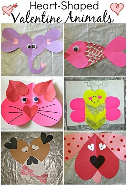 printable valentine animal crafts super simple classroom valentine s day party ideas