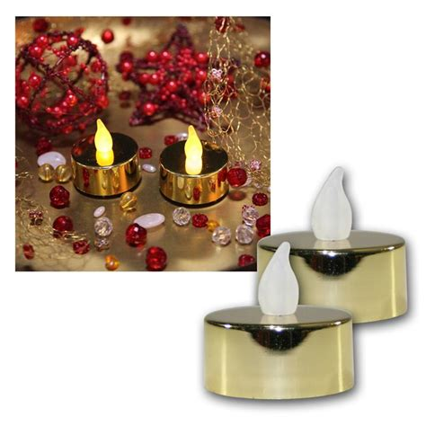 Tea Light Candles Uk by Set Of 2 Led Tea Lights Flickering Tea Candle Tealight
