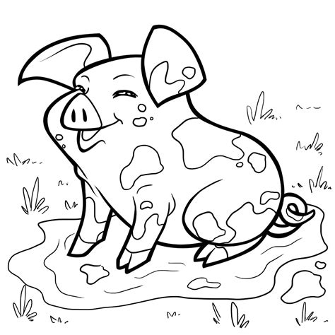 Coloring Page Pig by Pig Free Colouring Pages