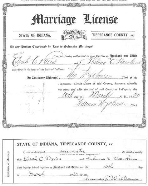 Tippecanoe County Marriage Records C Marriages Ingenweb Autos Post