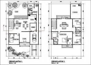 denah rumah minimalis 2 lantai nulis