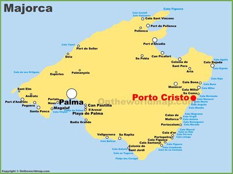 porto cristo maiorca porto cristo location on the majorca map