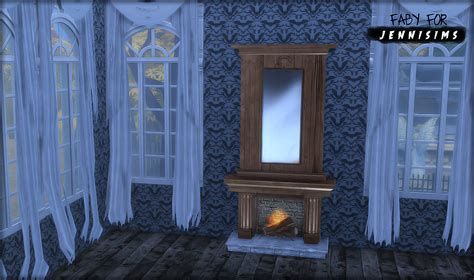 fireplace curtain jennisims downloads sims 4 fireplace curtains witch
