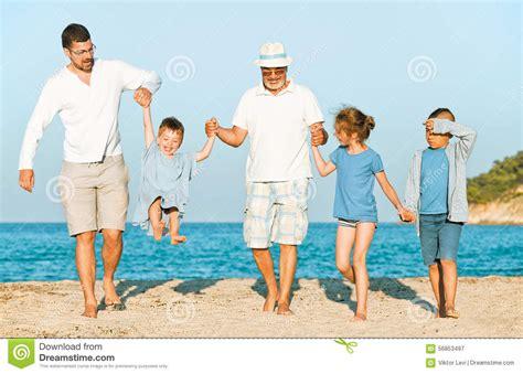 sonofka vacation grandfather beach family stock photo image 56853497