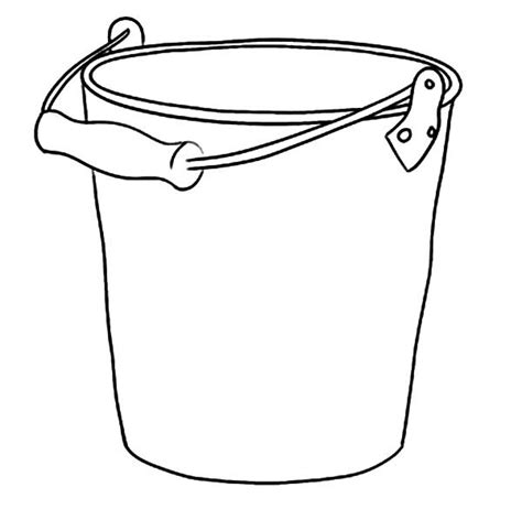 bucket template printable clipart best