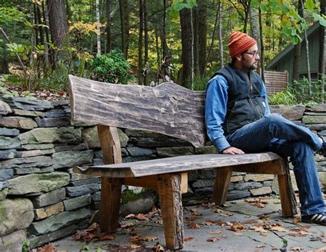rustic wooden garden benches slab wood bench live edge furniture rustic garden bench wood crafts pinterest