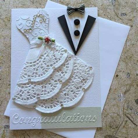 handmade wedding card wedding handmade cards and white