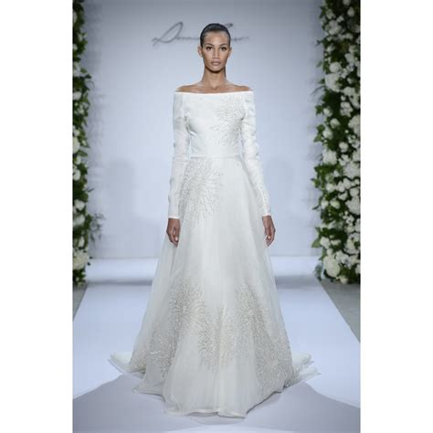 Organza Plain White Wedding Dresses by Sweep A Line The Shoulder Sleeve Satin And