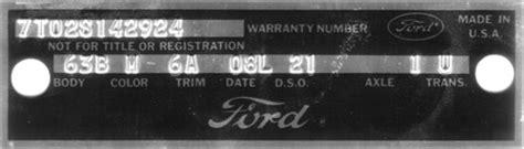 1965 mustang data plate decoder classic mustang dataplate decoder