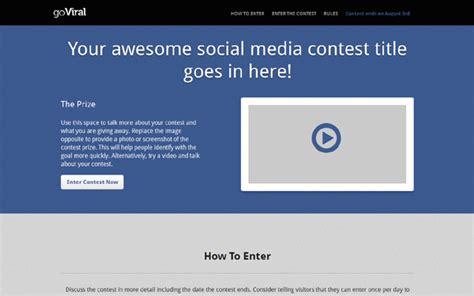 Goviral Social Media Contest Page Landing Pages Wrapbootstrap Social Media Contest Template