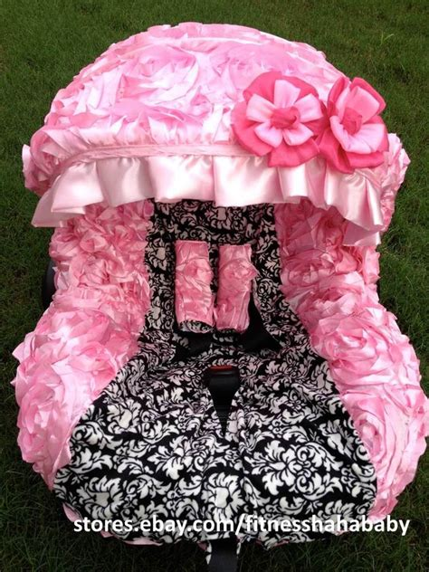 and black infant car seat covers infant car seat cover canopy cover set fit most seat