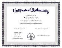 photography certificate of authenticity template certificate of authenticity templates free