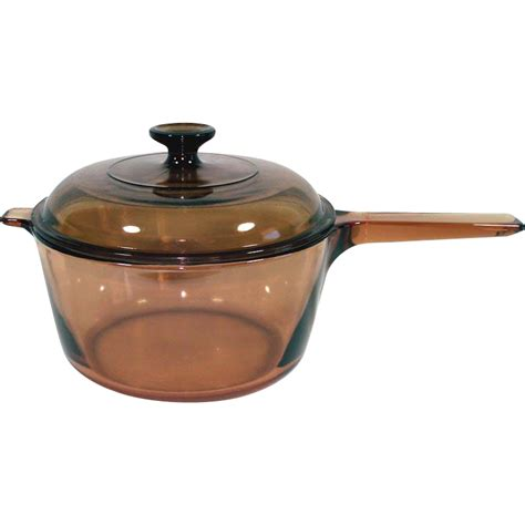 Visions 1 5 L Covered Saucepan corning visions 2 5 liter covered glass saucepan pot from