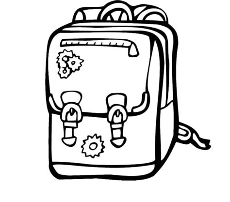 Backpack Coloring Pages Backpack Coloring Pages