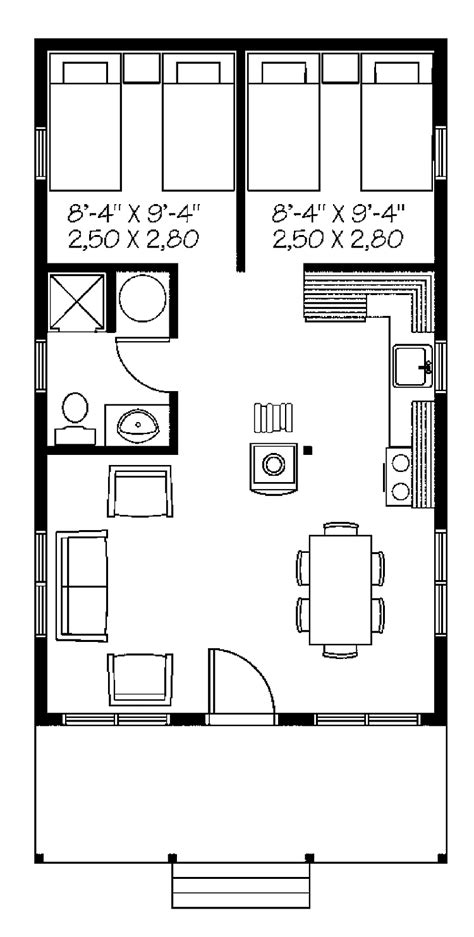 one bedroom home floor plans one bedroom country hwbdo66034 country house plan from