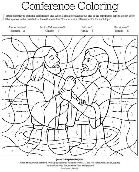 general conference coloring church stuff pinterest