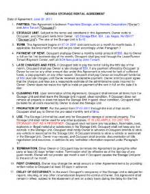 Self Storage Rental Agreement Template by Storage Unit Lease Agreement Template Fill