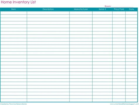 Free Printable Inventory Sheets Spreadsheet Templates Spreadsheets Free Printable Spreadsheets Free Spreadsheet Template