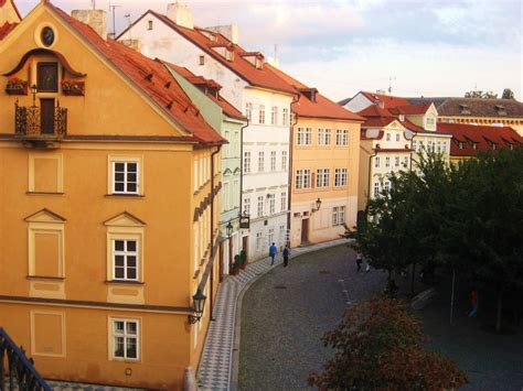 houses in city coloured houses in prague prague city