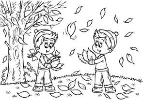 Free autumn landscape coloring pages printable kids colouring pages