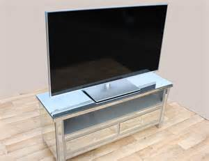 Silver Dining Room Table Mirrored Tv Unit With 2 Drawers Modern Furniture And
