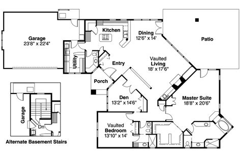 modern ranch floor plans contemporary house plans norwich 30 175 associated designs