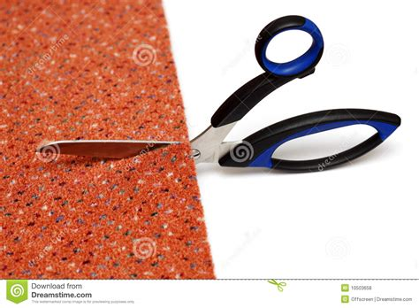 Cuttin A Rug by Cutting Of A Carpet Royalty Free Stock Photos Image