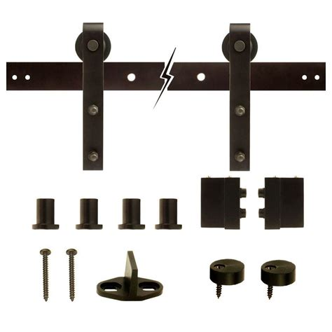 Barn Door Hardware Door Knobs Hardware Hardware Barn Door Track System Home Depot