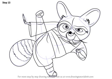 Kung Fu Panda Outline by Learn How To Draw Shifu Master From Kung Fu Panda Kung Fu Panda Step By Step Drawing Tutorials